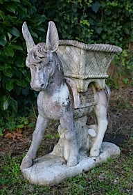 Donkey with basket